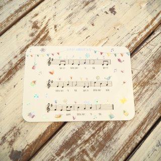 バースデーソングポストカード