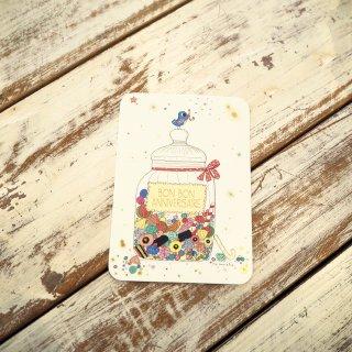 バースデーバードポストカード