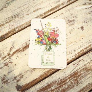 パリブーケポストカード