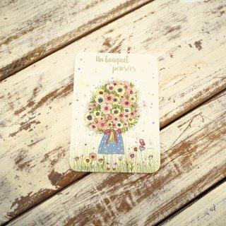 カラフルブーケポストカード