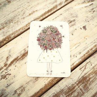 ピンクブーケポストカード