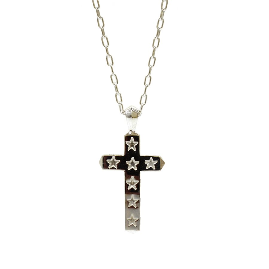 AMP JAPAN 14AO-135 star cross necklace-Large-