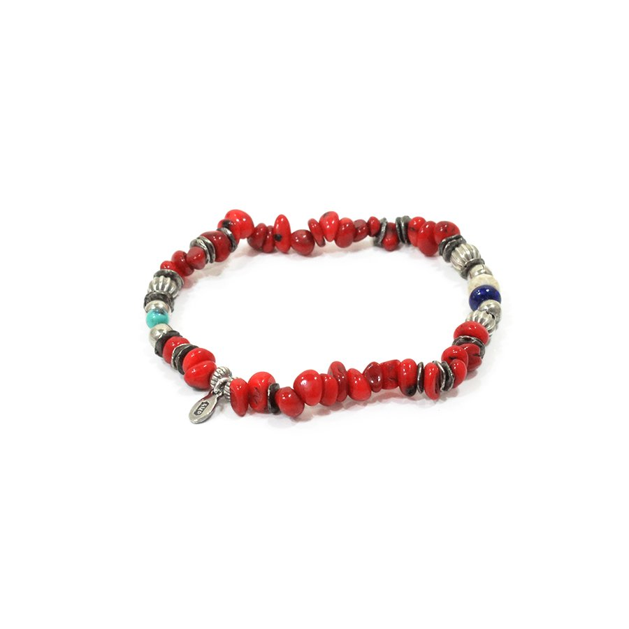 AMP JAPAN 16AHK-450 Tumble Stone Bracelet -Red-