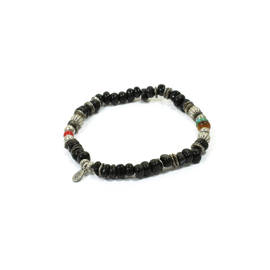 AMP JAPAN 16AHK-452 Tumble Stone Bracelet -Black-