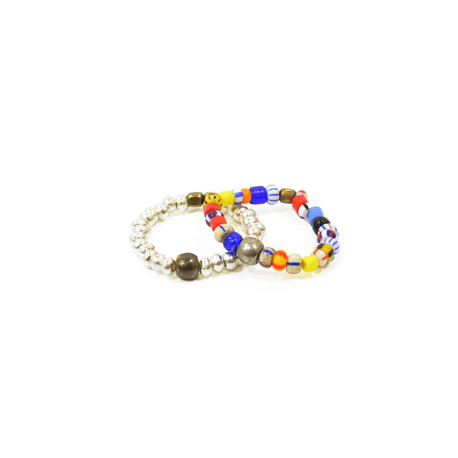 Sunku SK-031 MIX Christmas & Silver Beads Ring