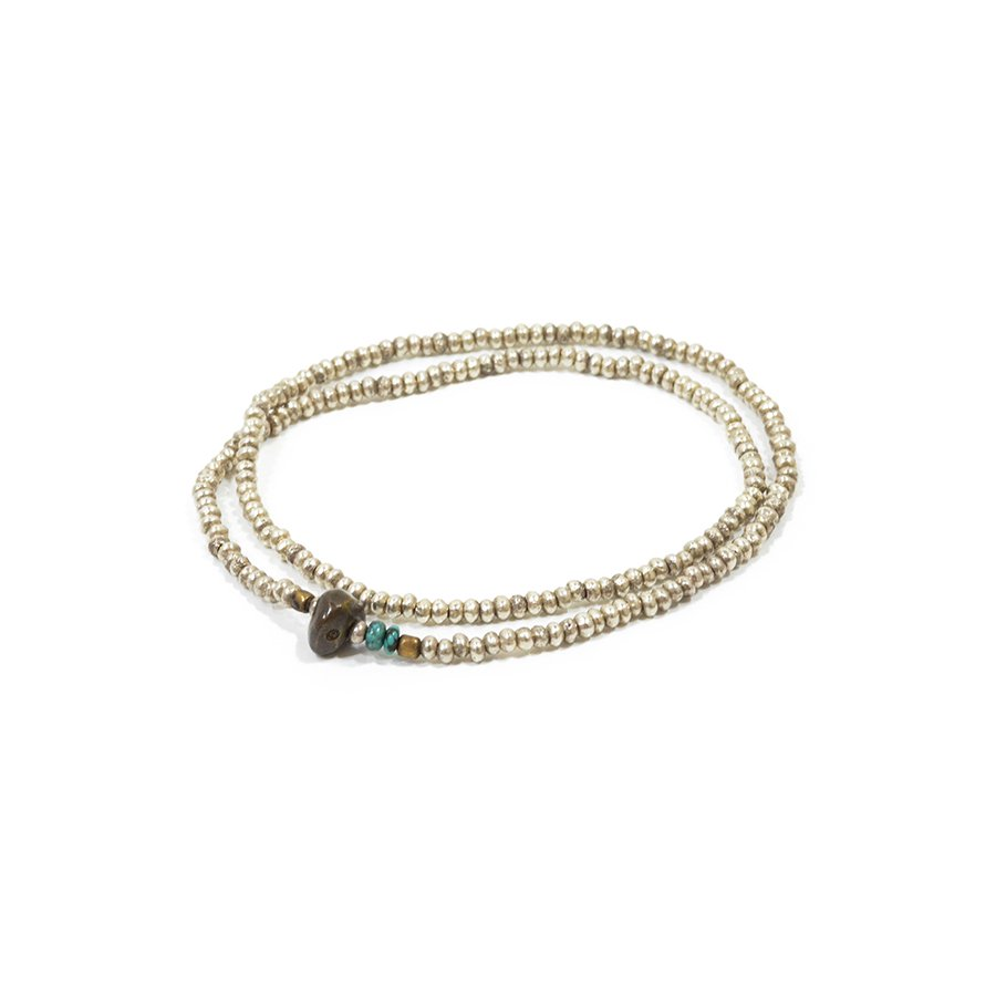 Sunku SK-075 Silver Beads Anklet & Necklace