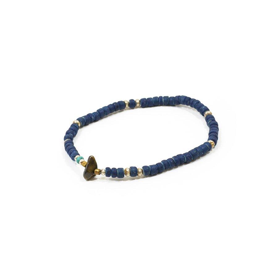 Sunku SK-081 Indigo Dye Beads Anklet