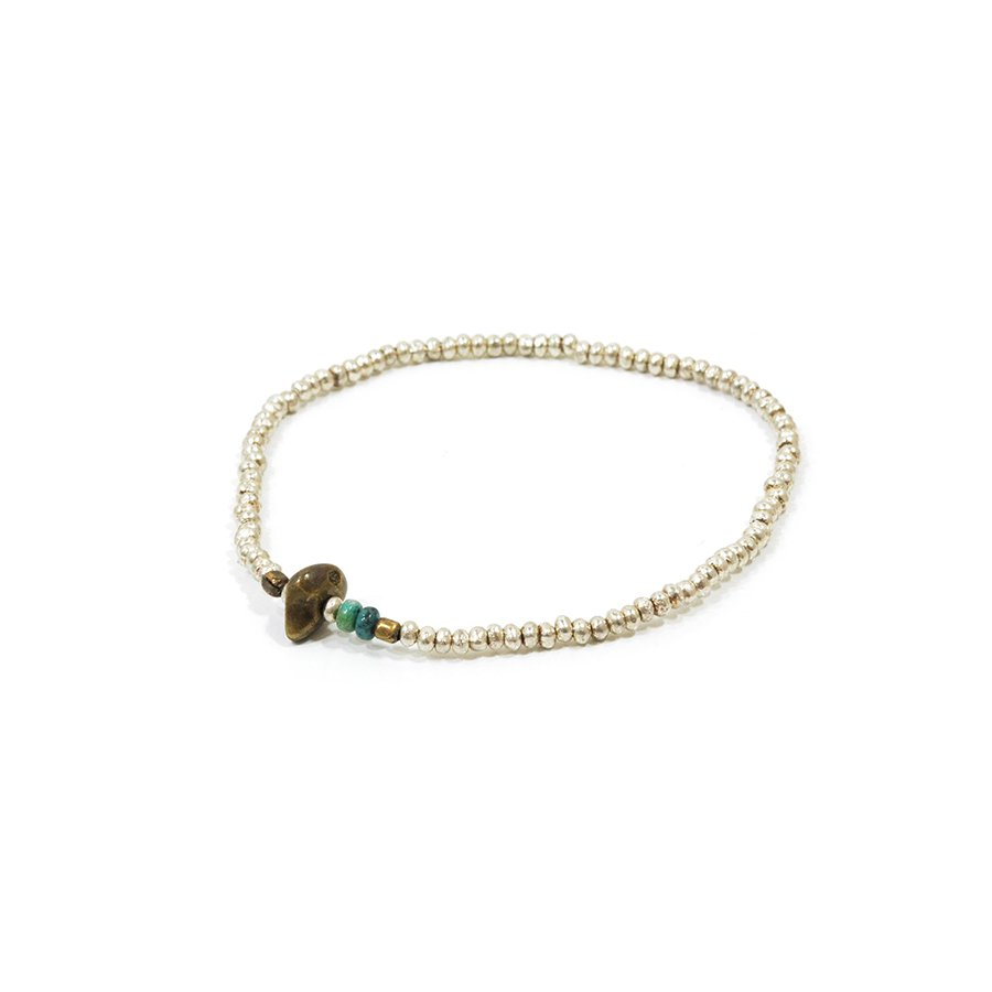 Sunku SK-079 Silver Beads Anklet