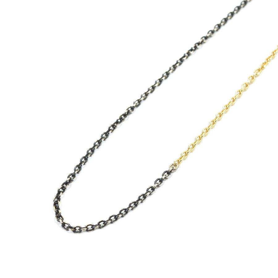 Sunku SK-189 K10&SV Combi Chain Necklace/70cm