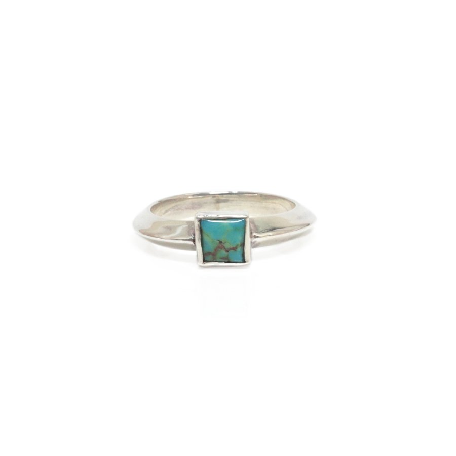 Sunku SK-217 TRIANGLE RING/TURQUOISE