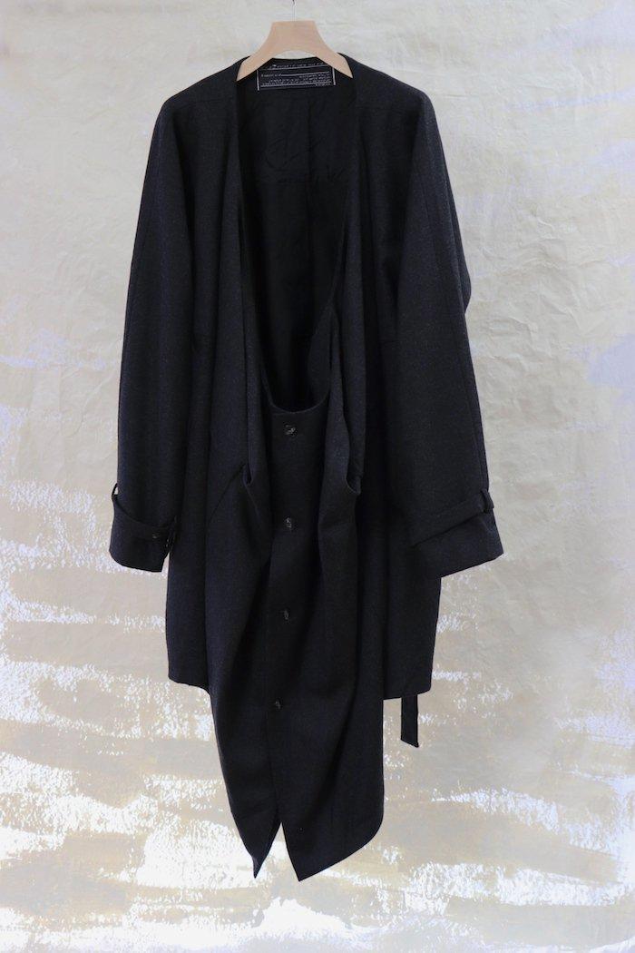 fabrics interseason archive 【 Front drip coat 】