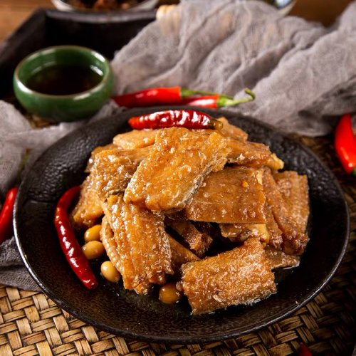 魁牌香辣黄花魚罐頭( キグチ揚げ瓶詰め)168g