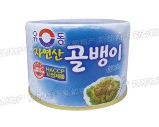 【韓国風味】自然産つぶ貝缶詰140g
