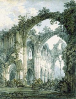INTERIOR OF TINTERN ABBEY, MONMOUTHSHIRE-TURNER