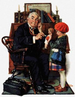 DOCTOR AND THE DOLL - NORMAN ROCKWELL<img class='new_mark_img2' src='https://img.shop-pro.jp/img/new/icons55.gif' style='border:none;display:inline;margin:0px;padding:0px;width:auto;' />