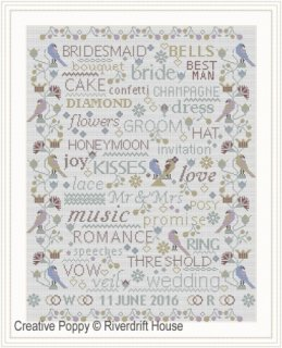 BIRDS & WORDS WEDDING ANNIVERSARY SAMPLER