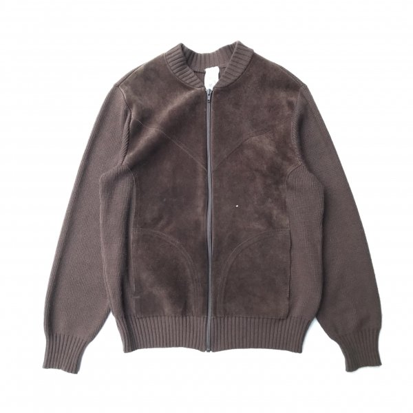 """""""St Miehad""""  Cotton × Suede Zip Up Jacket"""
