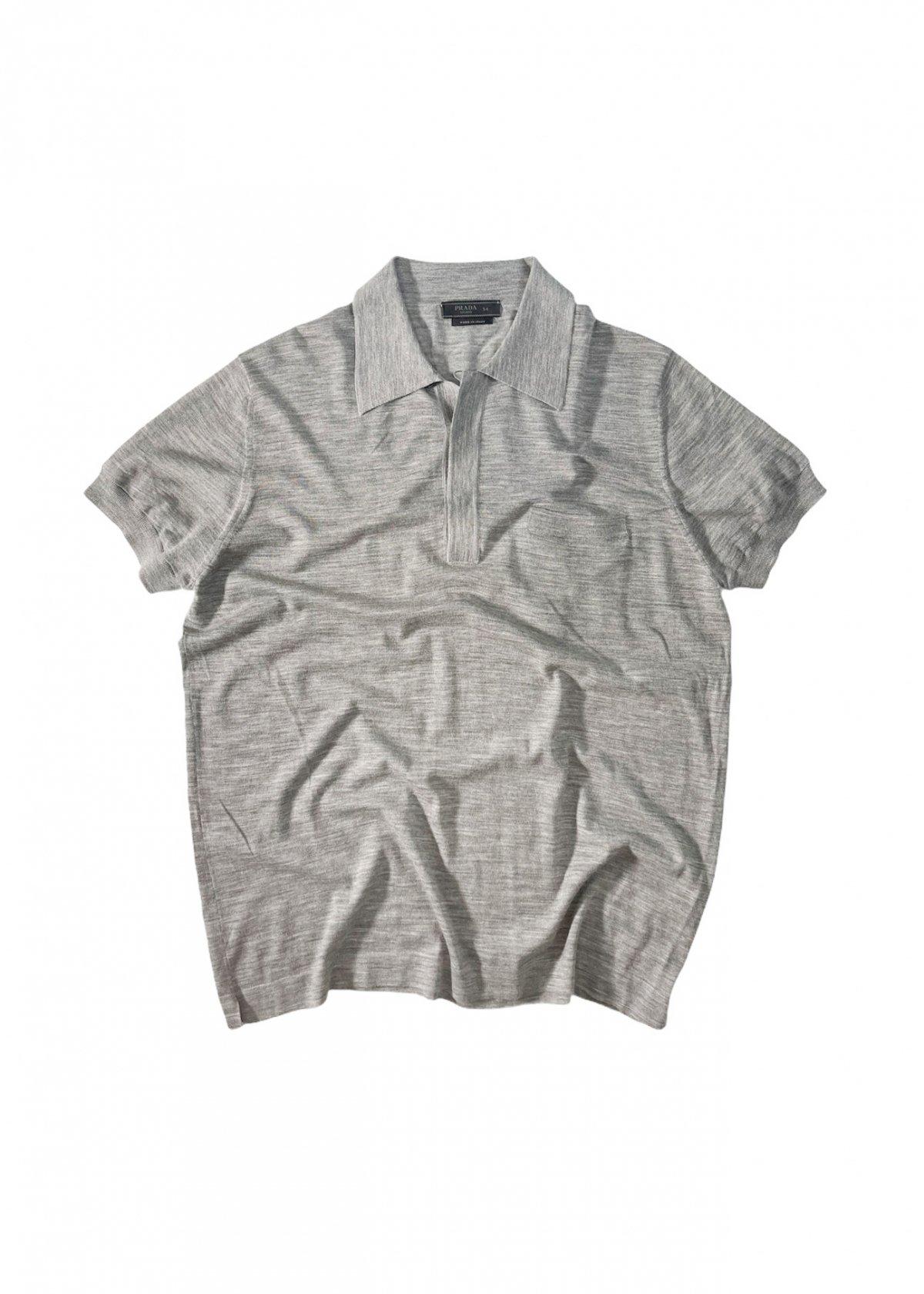 PRADA S/S Knit Polo Shirt