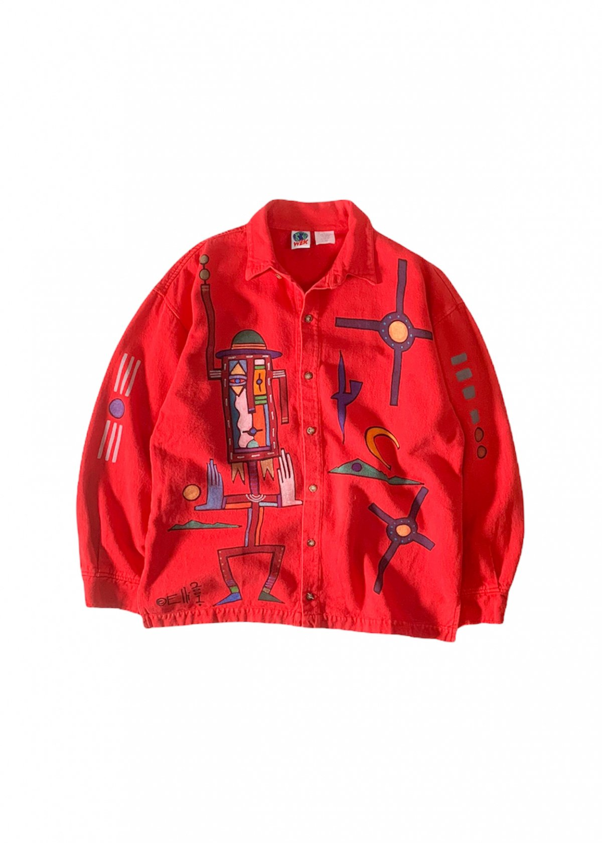 """""""WEK"""" Hand Painted L/S Shirt"""