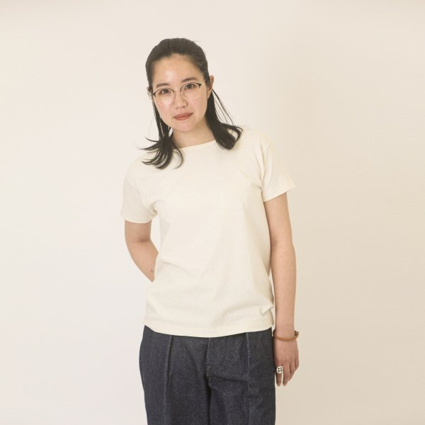 Short Sleeve Scoop Tee Natural