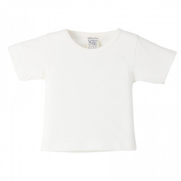 Short Sleeve Baby Tee White