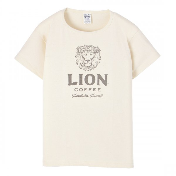 S.O.S. from Texas×LION COFFEE Short Sleeve Scoop Tee Natural
