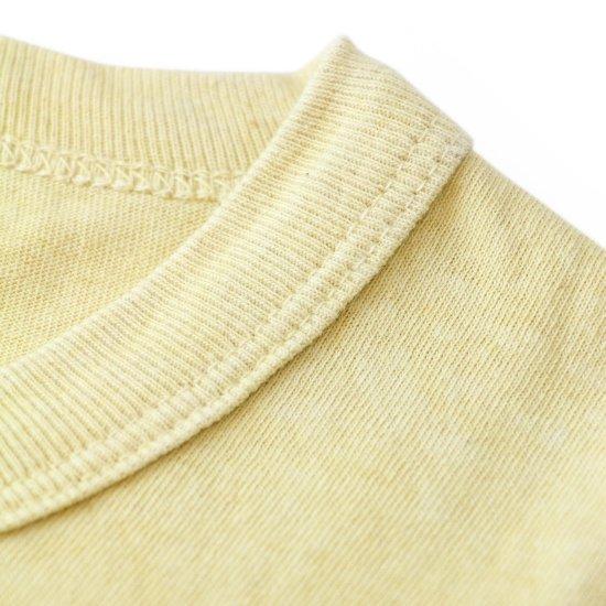 Short Sleeve Crew Tee Bengala Dyed Yellow