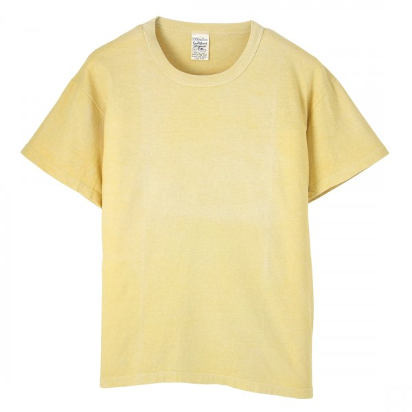 Short Sleeve Crew Tee Bengala Dyed Yellow