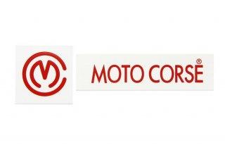 MOTO CORSE デカール スモールサイズ レッド