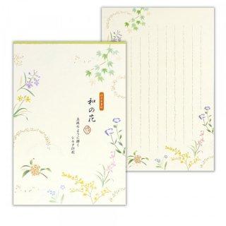 優あかりB5便箋 和の花