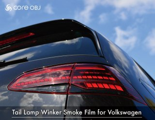 core OBJ<br>Front Emblem Protector Clear Smoke type<br>  for Volkswagen(130φ)