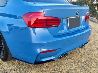 Produced by Next innovation<br>for BMW M3 (F80) / M4 (F82)<br>Rear Splitter/マットブラック 5�