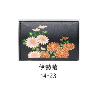 14-23 蒔絵カードケース オムレット型 桐箱入り・伊勢菊