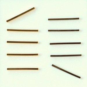 メタルパーツ パイプ 角線 1.5×20mm 15個 MB0208