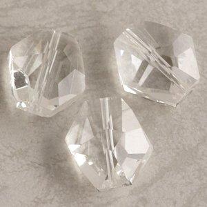 カットガラス  クリスタル 16×15mm 2個 GBC0116