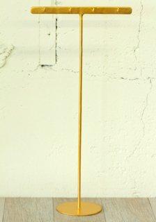 ディスプレイ什器: アクセサリースタンド フック付きTバー(L)ゴールド