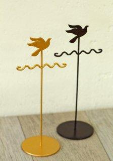 ディスプレイ什器: アクセサリースタンド 小鳥モチーフ イヤリング/ピアスホルダー(M)