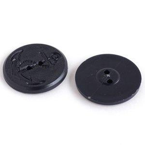 フランス ヴィンテージボタン ダークネイビー 27mm 1コ FAB0081