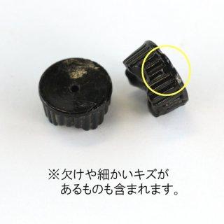 フランスヴィンテージ ブラック 変形ロンデル6×13mm 2個