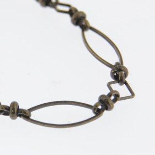 チェーン スイライ×スクエアチェーン 10cm 真鍮古美