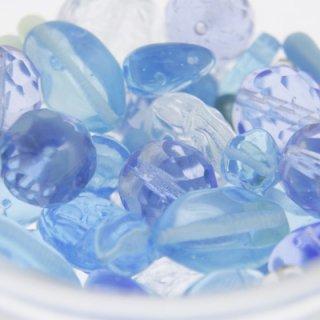 ガラスビーズアソートパック ライトブルー 約50g