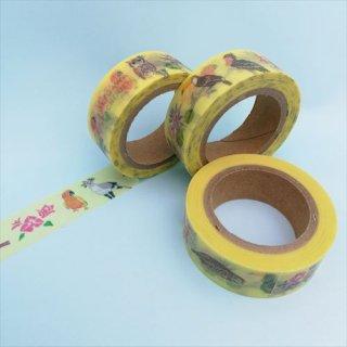 掛川花鳥園オリジナル<br>マスキングテープ<br>掛川花鳥園の鳥たち