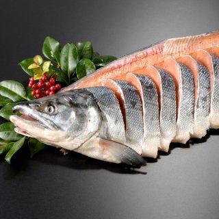 <水産物応援商品>北海道産 新巻鮭一本物 姿切り約3.0kg 送料無料 #元気いただきますプロジェクト