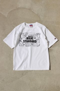 HIGH!STANDARD/TOOL PRINTED TEE WHT,BLK