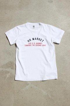 ハリウッドランチマーケット/TRICOカラー HR MARKET ロゴ ショートスリーブTシャツ