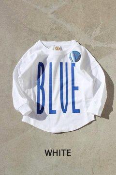 RUSSELL×BLUE BLUE/トールロゴ フットボールTシャツ キッズ WHT,BLK