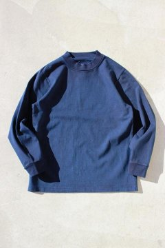 BLUE BLUE JAPAN/ファームテンジク テゾメ モックネック Tシャツ