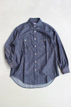 BLUE BLUE/ライトデニム ビッグシルエットボタンダウンシャツ ウイメンズ NVY