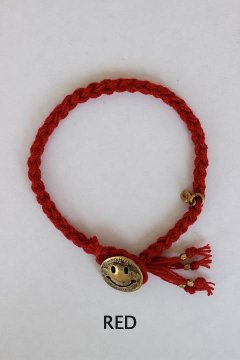 GAIJIN MADE/BRASS SMILE ANKLET FOR HORSE&DEER RED,BLUE