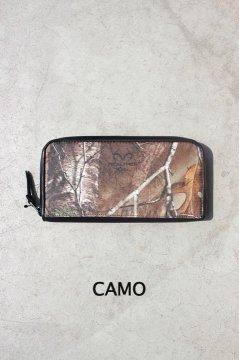 DAMASQUINA/キャンパー ジップウォレット L CAMO,BLK